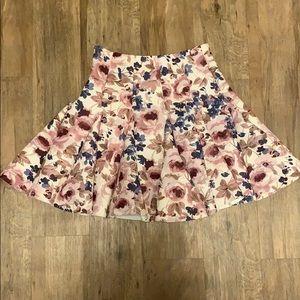 LC Lauren Conrad Runway floral skirt sz 6